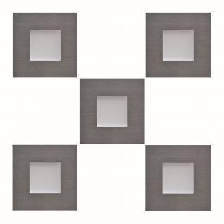 5-er Set LED Edelstahl Sockel-/Einbauleuchte 5 x 0, 35 W Küche Schrank *543441.LP