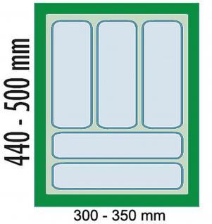 Dirks 40cm Schrank Schubladen-/Besteckeinsatz Besteckkasten kürzbar Grau *41922
