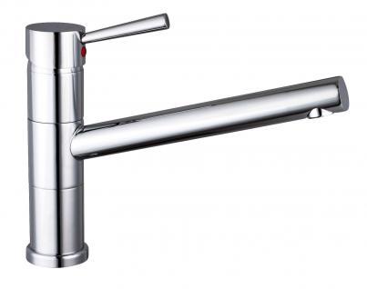 Niederdruck Einhand-/Einhebelmischer Wasserhahn DELTA Küchenarmatur Chrom *1160