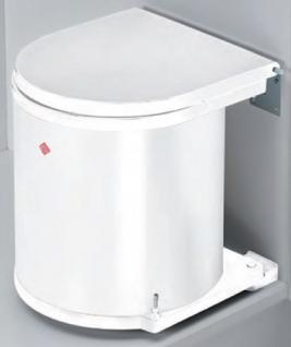 Wesco Abfall Mülleimer Küche 13 Liter Bad Abfalleimer Kosmetikeimer weiss *40655