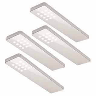 4-er Set LED Küchen Unterbauleuchte 5 W Konverter Sensorschalter dimmbar *555024