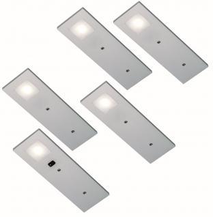 LED 5-er Set Unterbauleuchte 5 x 3, 5 Watt Küchen Lampe Konverter Sensor *555369
