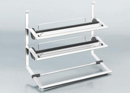3-fach Rollenhalter Küchenreling Linero 2000 Edelstahloptik Abrisshilfe *521500