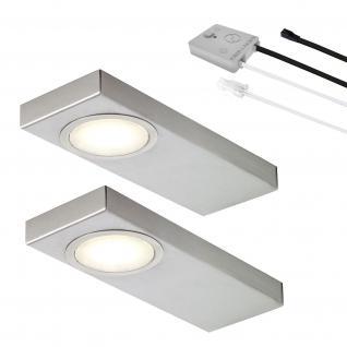 LED 2-er Set Küchen Unterbauleuchte 2 x 2, 7 Watt Lichtfarbe regelbar *552504