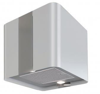 Umluft Küchen Abzug Inselhaube VILLA Weiss 600 m³/h LED Licht 4 Stufen *560325