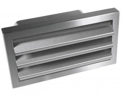 Abluft Mauerkasten DN 150 Außengitter Rückstauklappe 230x80mm Flachkanal *529261