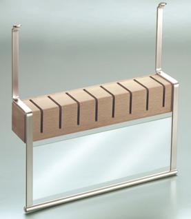 Messerhalter Messerblock Halter Küchenreling Linero 2000 Edelstahloptik *521524