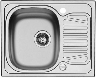 Einbauspüle 620x500mm Küchenspüle Edelstahl Abwaschbecken Spülbecken *509768