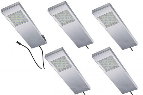 LED 5-er Set Küchen Unterbauleuchte Leuchtenset TADEO 5 x 3 W Edelstahl *542628