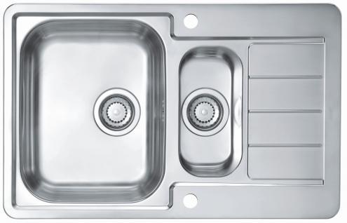 Alveus Küchen-/Einbauspüle 790x500 mm Edelstahl Abwasch-/Spülbecken *Line max70