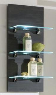 Badezimmer Wand-/Badregal 68 x 30 cm LED Licht Beleuchtung Glasboden *5419-11