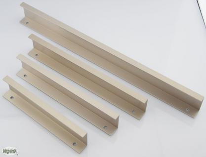 Schrank Schubladen Profil Möbelgriff Edelstahloptik gebürstet Griffleiste *714