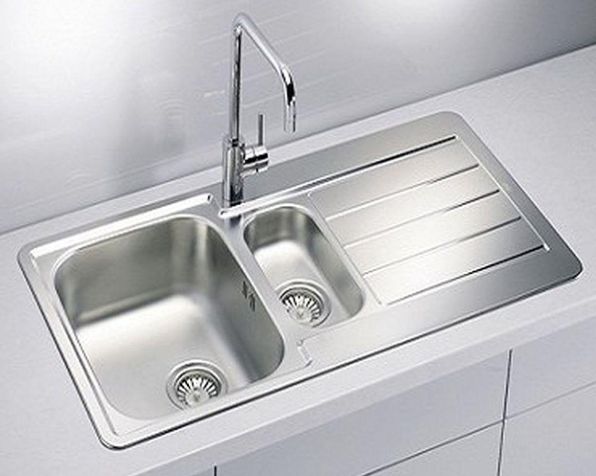 Alveus Einbau Küchenspüle 980 x 500 mm Edelstahl Abwasch
