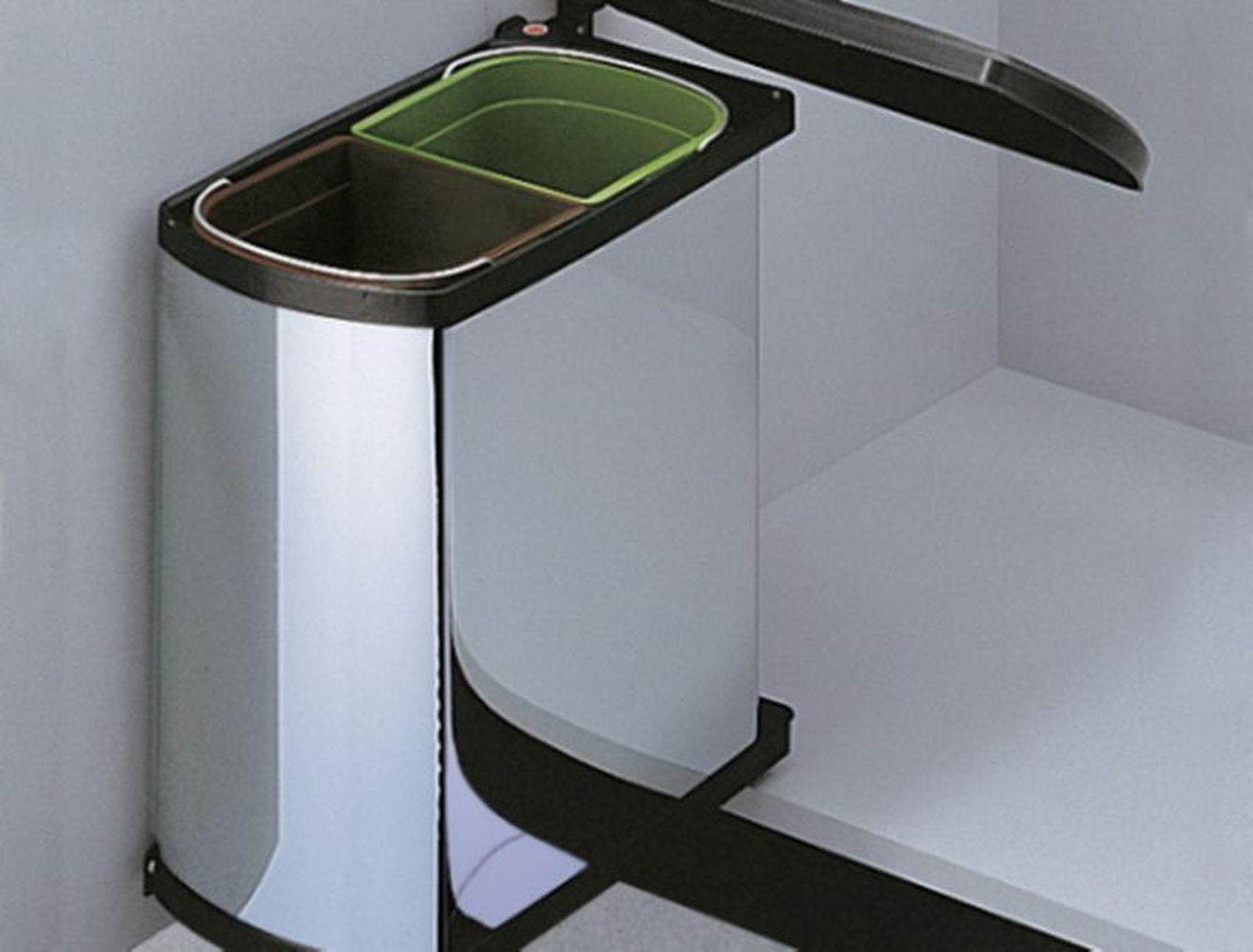 hailo duo edelstahl bio mülleimer küche 2 x 8 liter ab 45 cm