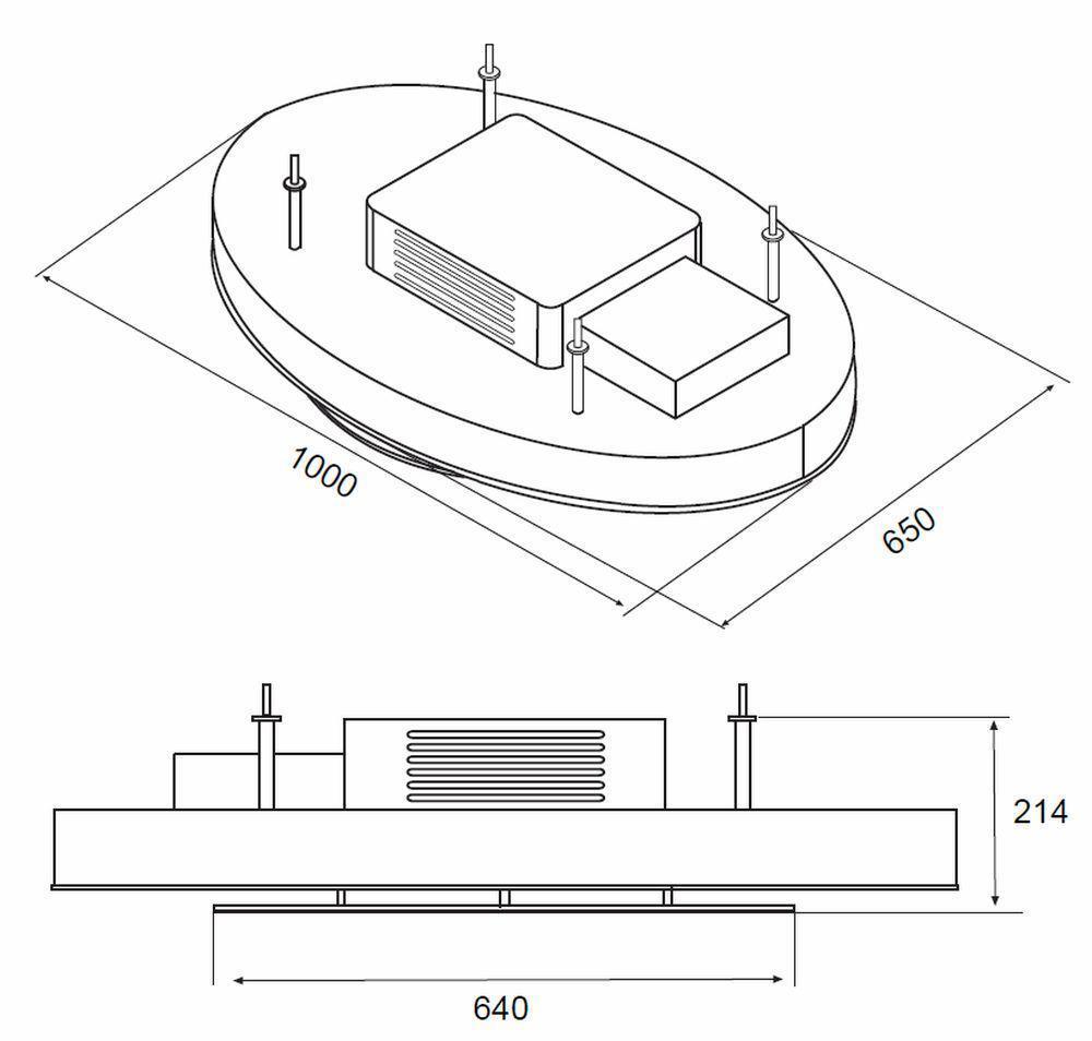 deckenl fter 1m inselhaube edelstahl glas 600m h umluft fernbedienung 551200 kaufen bei. Black Bedroom Furniture Sets. Home Design Ideas