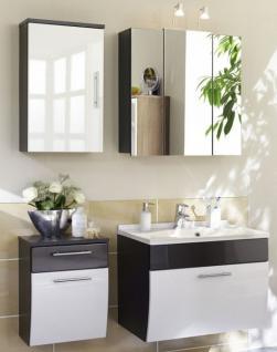 4 Teile Badmöbel Set Waschplatz 70 cm Spiegelschrank Gäste Bad Badezimmer *4003