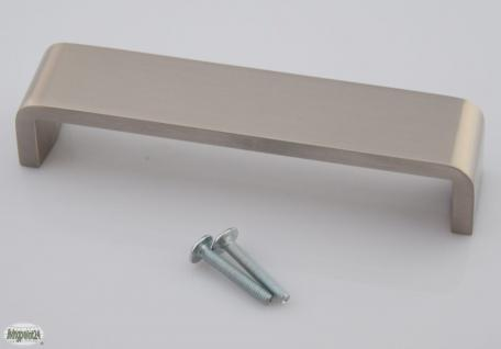 Schubladen-/Möbelgriff BA 128 mm Edelstahloptik Schrank Tür Küchengriff *1096-07