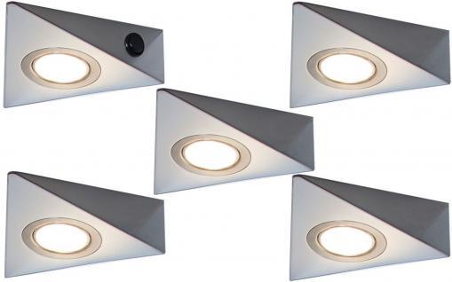LED 5-er Set Unterbau Küchenleuchte 5 x 3 Watt Warmweiss Lampenset Licht *548842