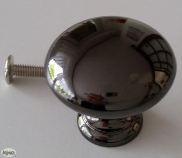 Schrank Tür Kommoden Möbelknopf Ø 32 mm Schwarzchrom glänzend Griff Knauf *803