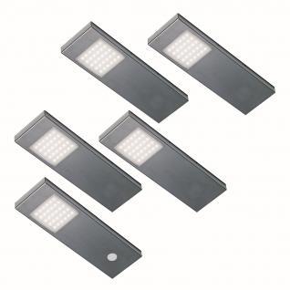 Thebo 5-er Set LED Küchen Unterbauleuchte TADEO-3DM 5 x 2, 64 W Dimmer *555635.LP
