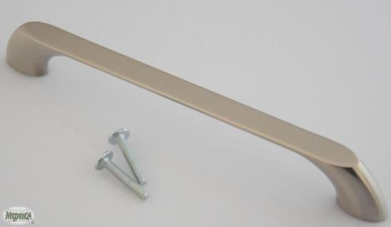 Möbelgriff BA 160 mm Schrank Kommoden Bogen Tür Küchengriff Edelstahloptik *653