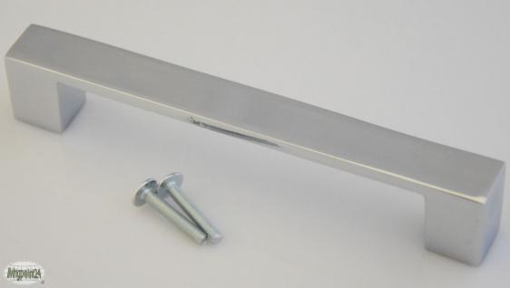 Kommoden-/Küchengriffe BA 128 mm Schrank-/Tür-/Möbelgriffe Chrom glänzend *806