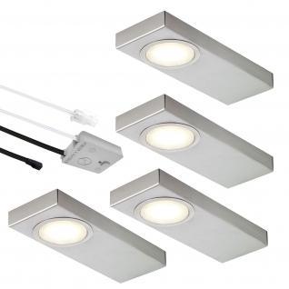 LED 4-er Set Edelstahl Küchen Unterbauleuchte Lichtfarbe regelbar 310 lm *552528