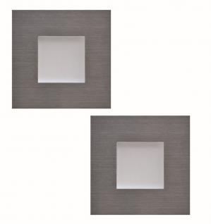 2-er Set LED Sockelleuchte Edelstahl Küchen Einbauleuchte warmweiss *543410.LP