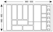 90-er, 100-er Besteckeinsatz Schubladeneinsatz 801-940mm Besteckkasten *517176