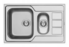 Küchen-/Einbauspüle 79x50cm inkl.Restebecken Drehexzenter Waschbecken *101200312