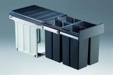 Wesco Profiline Bio Quartett Mülleimer Küche 4 x 10 Liter Abfallsammler *515660