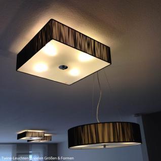 s.LUCE Twine M Stoff-Hängeleuchte / Hängelampe Stofflampe Braun - Vorschau 4
