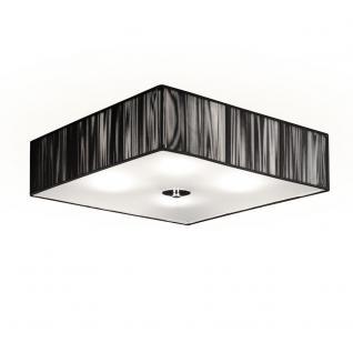s.LUCE Twine Deckenleuchte mit Stoffschirm 45x45 cm / Lampe Schwarz - Vorschau 1