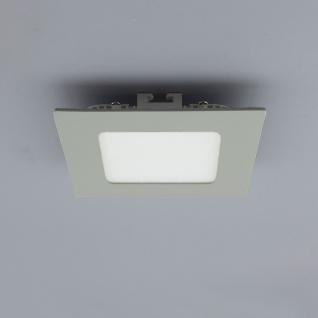 Licht-Design 30549 Einbau LED-Panel 480 Lumen Dimmbar / 12x12 cm / Warm / Silber