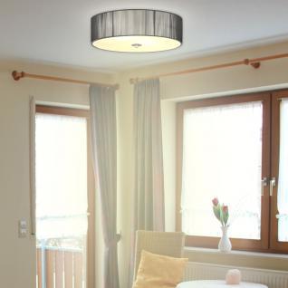 s.LUCE Twine M Deckenlampe mit Stoffschirm / Textillampe Stoffleuchte Silber - Vorschau 1