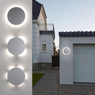 Nordlux Uno Disc / LED Aussen-Wandleuchte / 673 Lumen / Edelstahl / Wandlampe Aussen - Vorschau 1