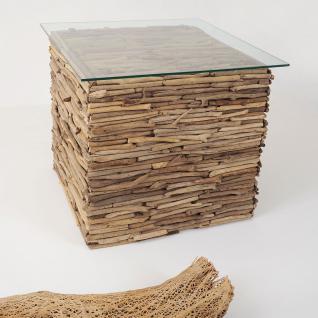 hollnder 123 k 2504 tisch marco treibholz glas natur klar - Treibholz Tisch