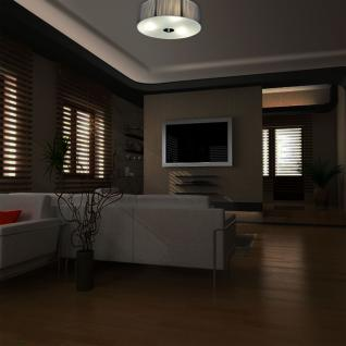 s.LUCE Twine M Deckenlampe mit Stoffschirm / Textillampe Stoffleuchte Silber - Vorschau 3