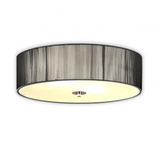 s.LUCE Twine M Deckenlampe mit Stoffschirm / Textillampe Stoffleuchte Silber - Vorschau 2