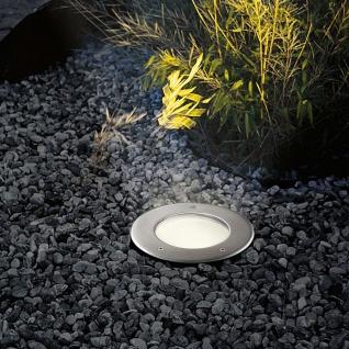 s.LUCE Level / Bodeneinbaustrahler rund / Edelstahl IP67 / Einbaulampe Aussen