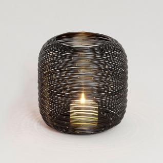 windlicht 1 flg zucchero metall schwarz silber kaufen bei licht design skapetze gmbh co kg. Black Bedroom Furniture Sets. Home Design Ideas