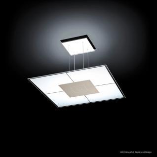 Grossmann 82-852-063 Magic LED-Hängeleuchte 50 x 50 cm / 2720 Lumen / Alu-matt