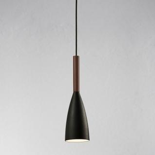 Licht-Trend Balanda Hängeleuchte Ø 10 cm mit Holz, schwarz - Vorschau 1