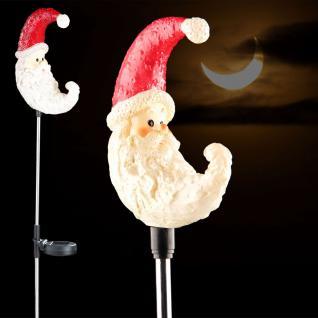 LED Weihnachtsmann Mond 72 cm / Winter-Solar Solarlampe Solarleuchte
