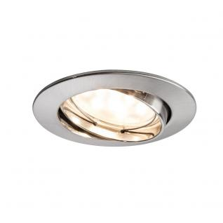 Paulmann 928.19 3er LED Einbauleuchten-Set Coin klar rund 7W Eisen / dimm- & schwenkbar