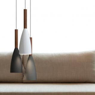 Licht-Trend Balanda Hängeleuchte Ø 10 cm mit Holz, schwarz - Vorschau 3