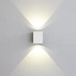 LICHT-TREND Baleno Quadi / LED Wand-Aussenleuchte Up&Down Weiss / Wandlampe - Vorschau 2