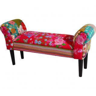 Patchwork / Sitzbank 105 cm / Pink