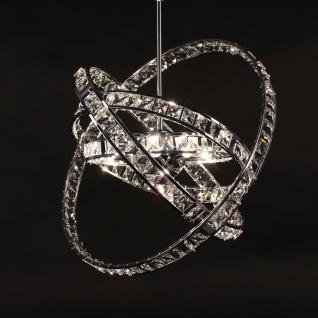 s.LUCE Orbit Kristall Hängeleuchte Ø 50 cm / Chrom / Pendellampe Hängelampe - Vorschau 1