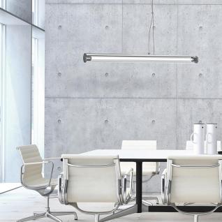 Licht-Trend Pipe / Moderne Hängeleuchte mit Acrylrohr 90 cm / Chrom